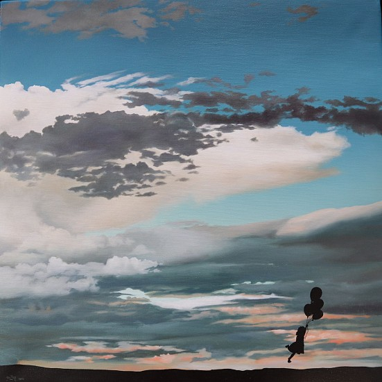 Anton Brink, Quest ( when the wind blows) oil on board